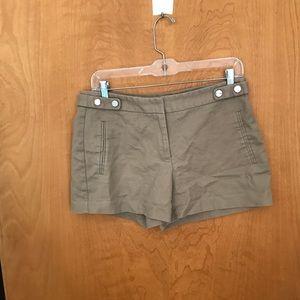 Zara tan tailored shorts
